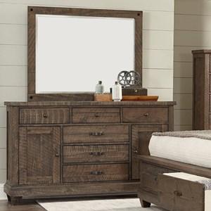 Lifestyle JD Mex Dresser and Mirror Set