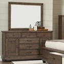 Lifestyle JD Mex Dresser and Mirror Set - Item Number: C7131A-045+050