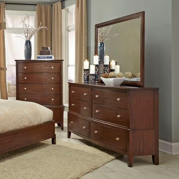 Lifestyle C7189 6 Drawer Dresser and Mirror - Item Number: C7189-040+050