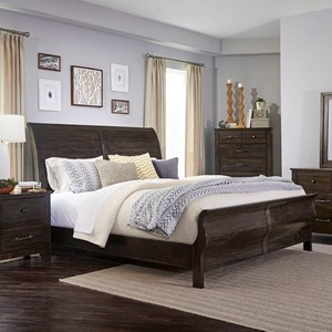 Lifestyle C7288A King Sleigh Bed