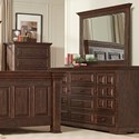 Lifestyle Johnson Dresser and Mirror Set - Item Number: C7298A-040+C7298A-050