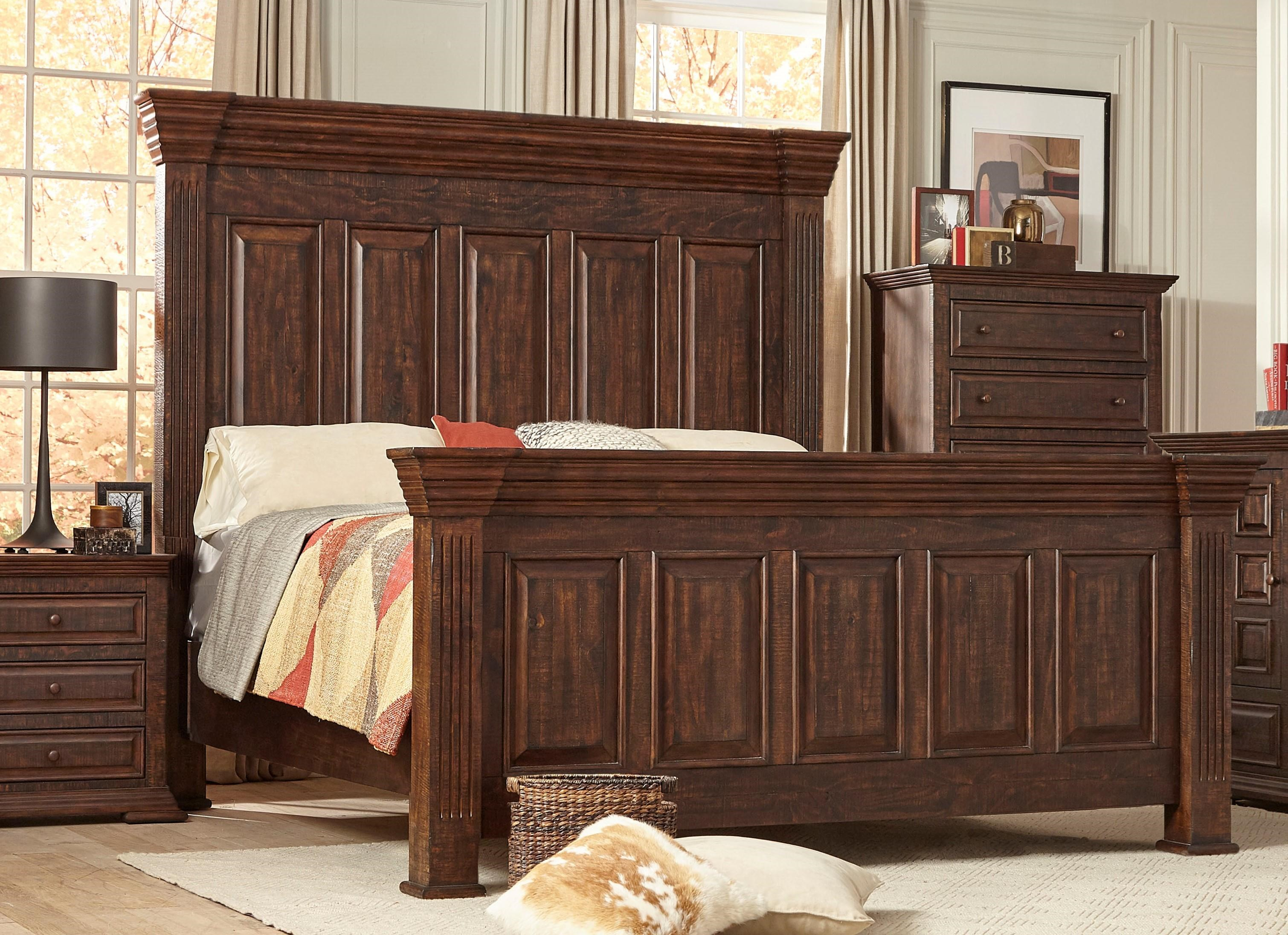Lifestyle C7298 King Panel Bed - Item Number: C7298K