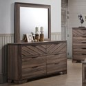 Lifestyle C7309A Dresser and Mirror Combo - Item Number: C7309A-040-6DXX+050-MHXX