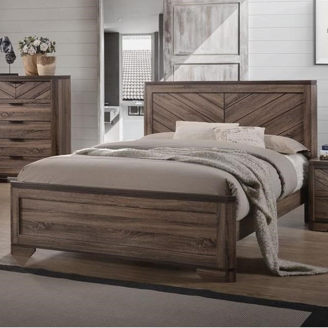Lifestyle C7309A Modern Rustic Queen Bed | VanDrie Home ...
