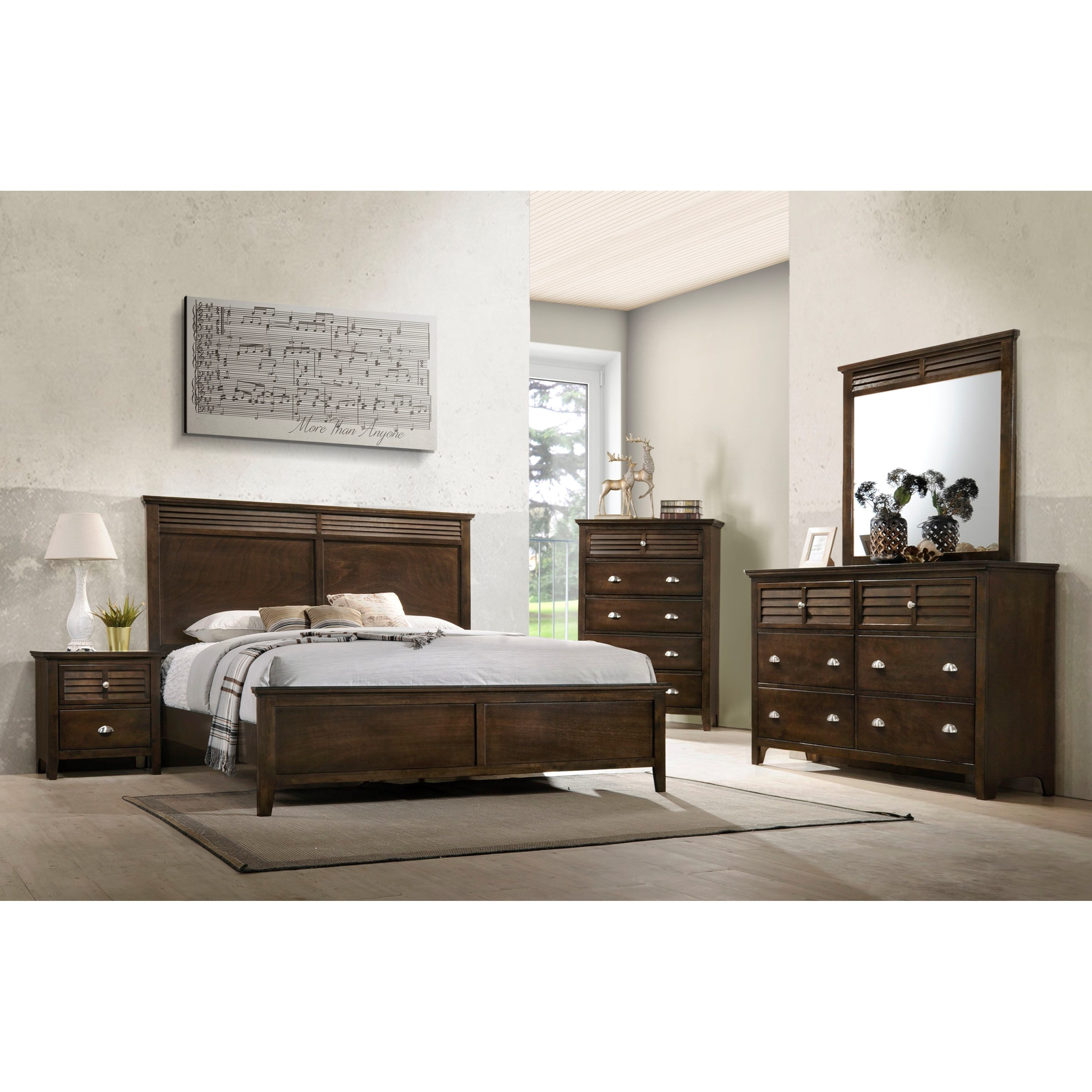 Furniture Fair North Carolina: Lifestyle C7313 Transitional Queen Bed With Tall Headboard