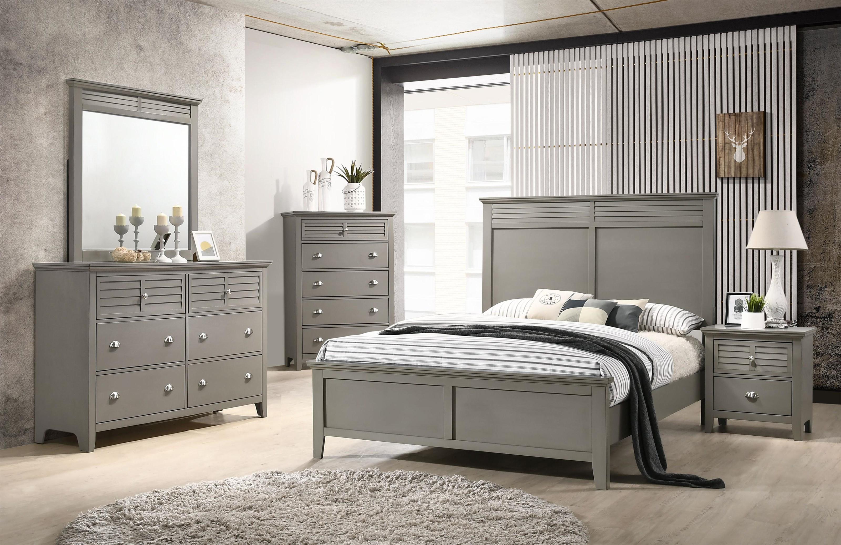 C7313GREY White Bedroom Group shot by Lifestyle at Furniture Fair - North Carolina