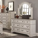 Lifestyle Magnifico Dresser and Mirror Set - Item Number: C8023A-045+050