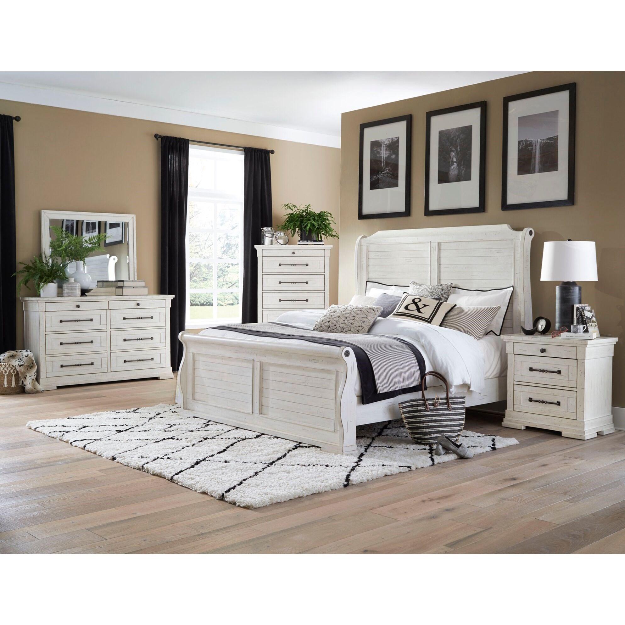 - Lifestyle C8047A QS0-QSG-BSN+045+050+025 Queen Sleigh Bed, Dresser