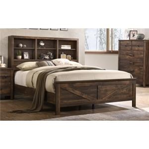 Lifestyle C8100A Queen Bookcase Bed