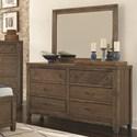 Lifestyle Allie Dresser & Mirror Set - Item Number: C8121A-040+050