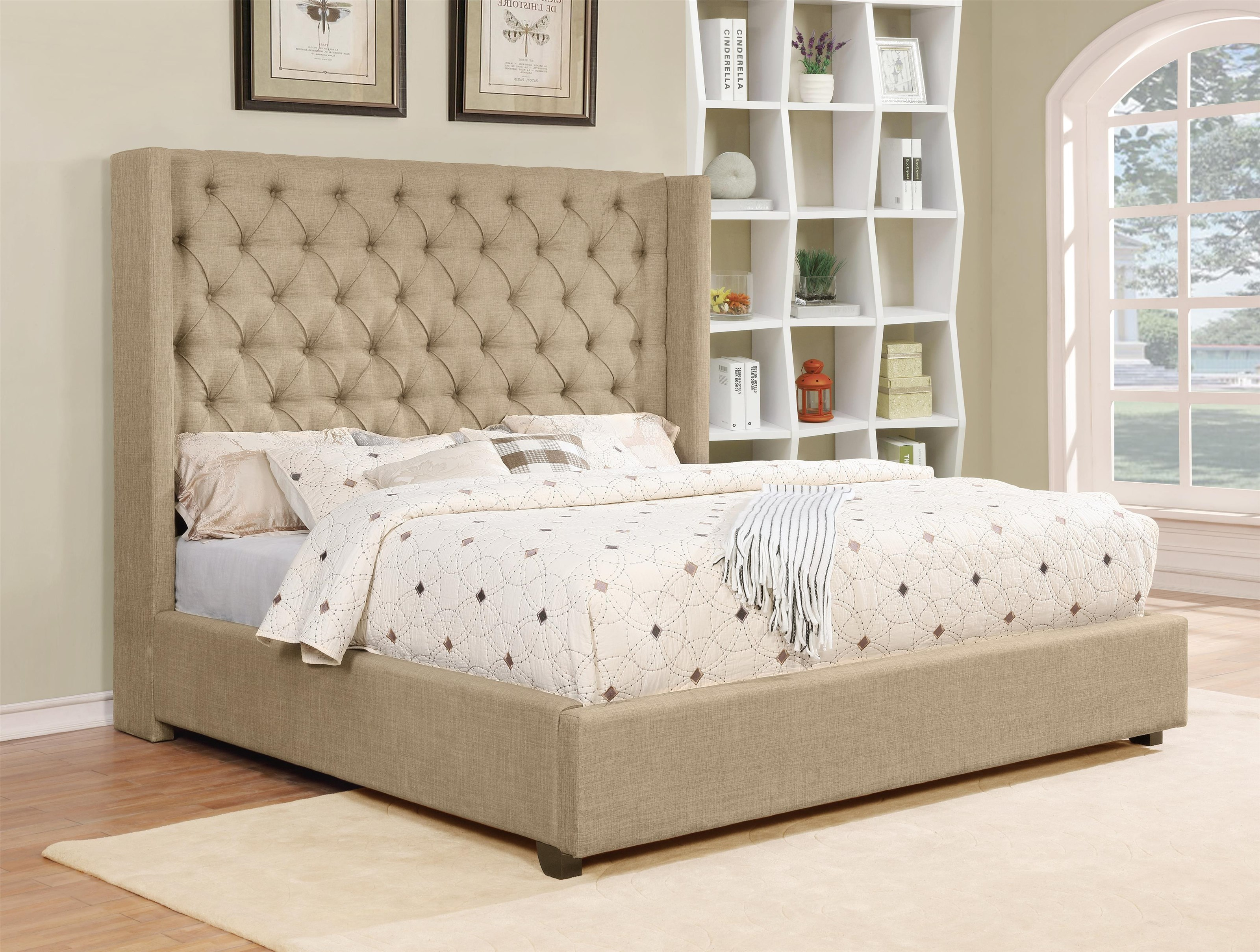 C9246J King Upholstered Bed by Lifestyle at Furniture Fair - North Carolina