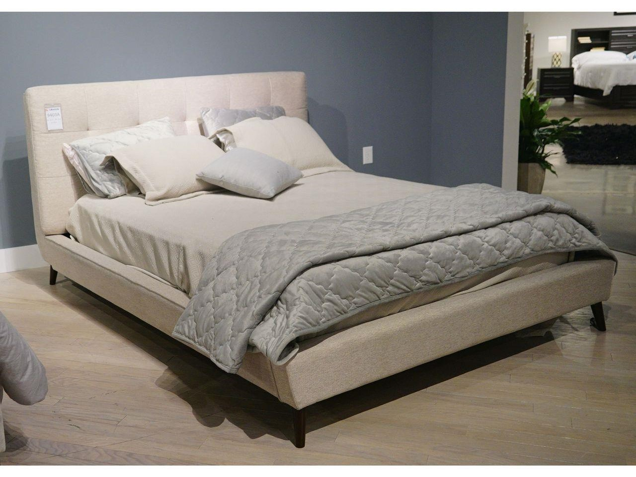 C9403 King Upholstered Bed by Lifestyle at Furniture Fair - North Carolina