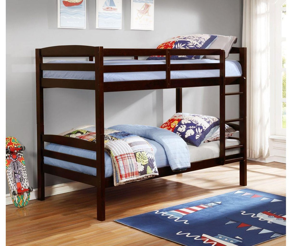 CB80 Espresso Twin over Twin Bunk Bed by Lifestyle at Furniture Fair - North Carolina