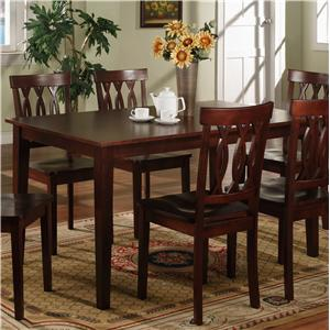 Lifestyle CD015 Rectangular Wood Top Dining Table