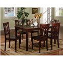 Lifestyle CD015 Rectangular Wood Top Dining Table - Shown with Fishback Dining Side Chairs