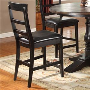 Lifestyle CDC052 Dining Contemporary Slat-Back Pub Chair