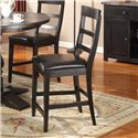 Lifestyle CDC052 Dining Contemporary Slat-Back Pub Chair - Alternate View