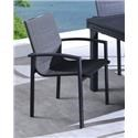 Lifestyle COD829 Black Outdoor Dining Arm Chair - Item Number: 730182994