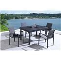 Lifestyle COD829 Black 5 Piece Outdoor Dining Set - Item Number: 770182992