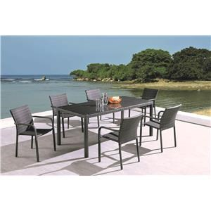 5 Piece Rectangular Patio Set