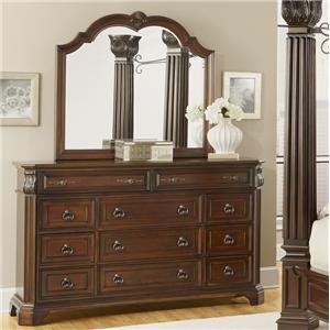 Lifestyle Corinthian Dresser and Mirror
