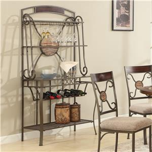 Lifestyle DC067 Buffet and Hutch, Wine Rack