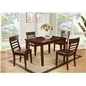 Lifestyle Horizon 5 Piece Dining Table Set - Item Number: CDC192-D4X