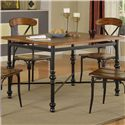Lifestyle DC222 Counter Height Pub Table with X Stretcher  - Table Shown May not Represent Dimensions Indicated
