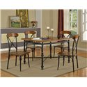 Lifestyle DC222 Counter Height Pub Table with X Stretcher