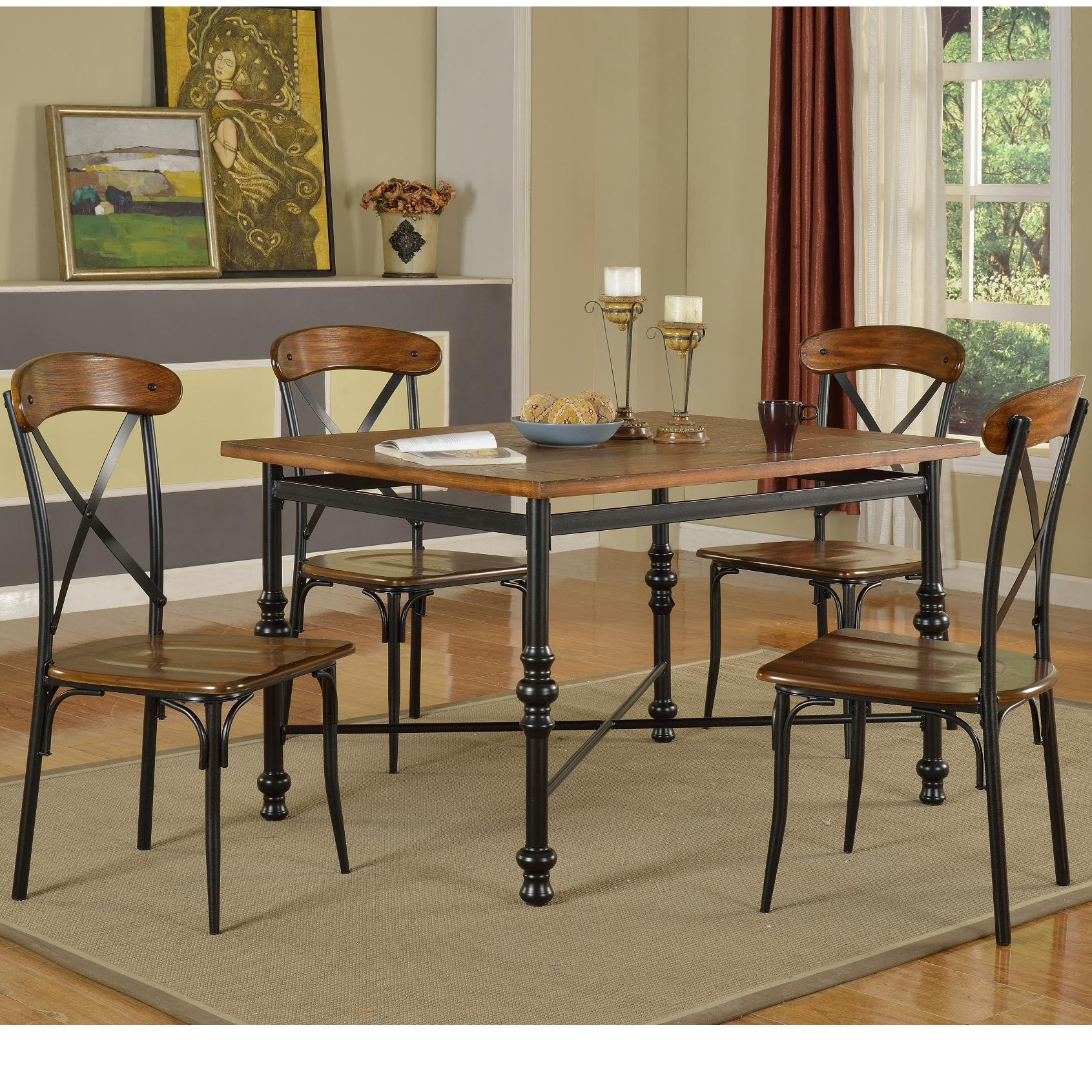 lifestyle dc222 pub table with 4 side chairs royal furniture