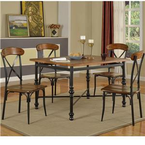 Lifestyle Richard Pub Table Set - DC222-PTT+PTB+2xPP2