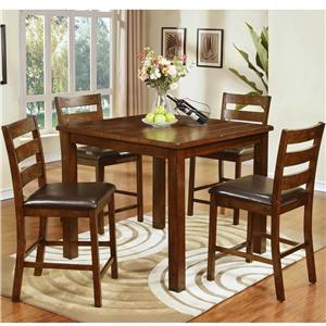Lifestyle DC279 Dining Table and 4 Chair Set with Block Feet