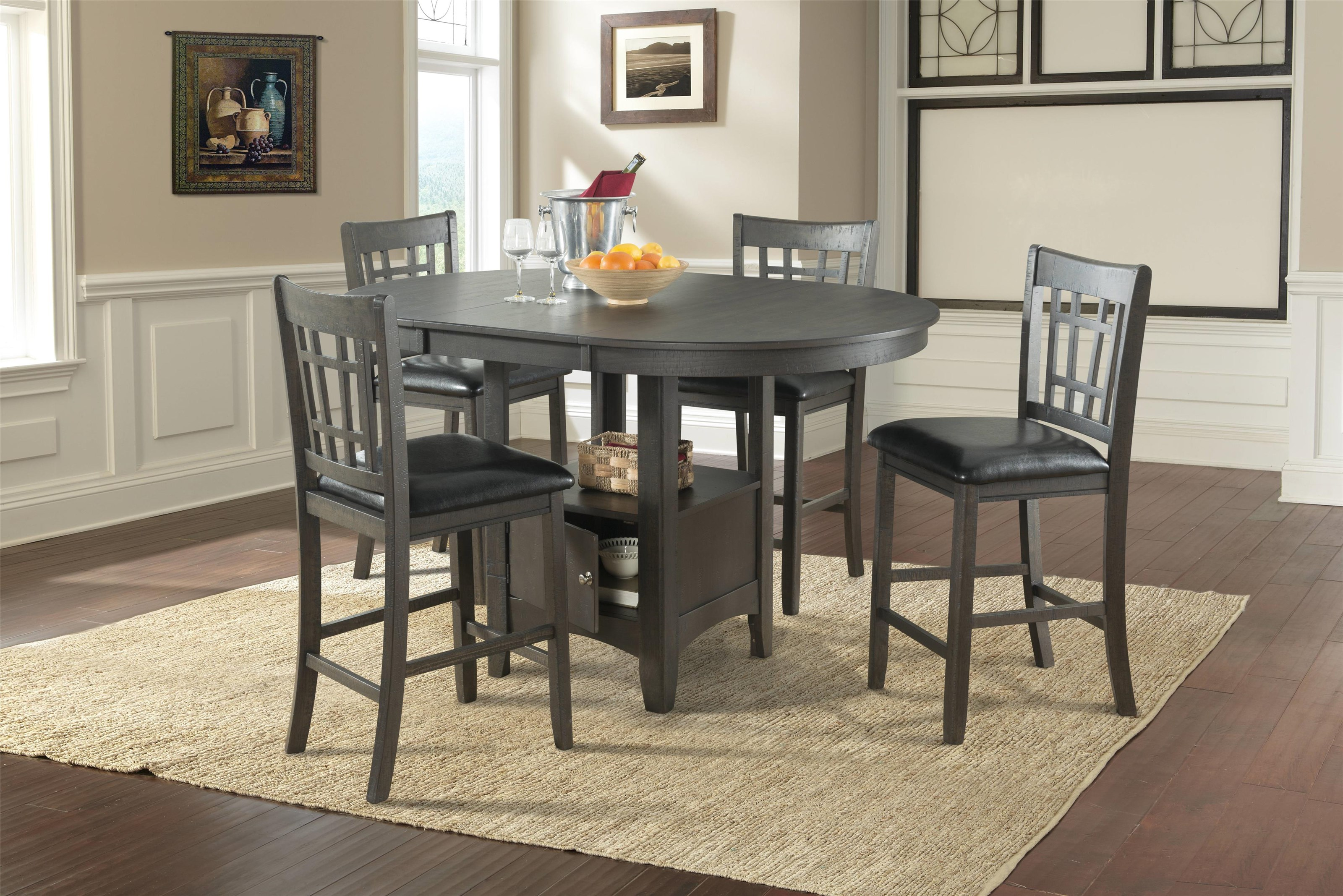 Lifestyle DMX600 GREY Pub table x 4 stools - Item Number: 400-11518-3