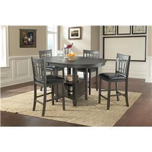 Lifestyle DMX600 GREY Pub table x 4 stools