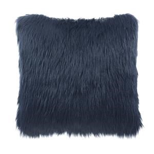 Indigo Faux Fur Pillow