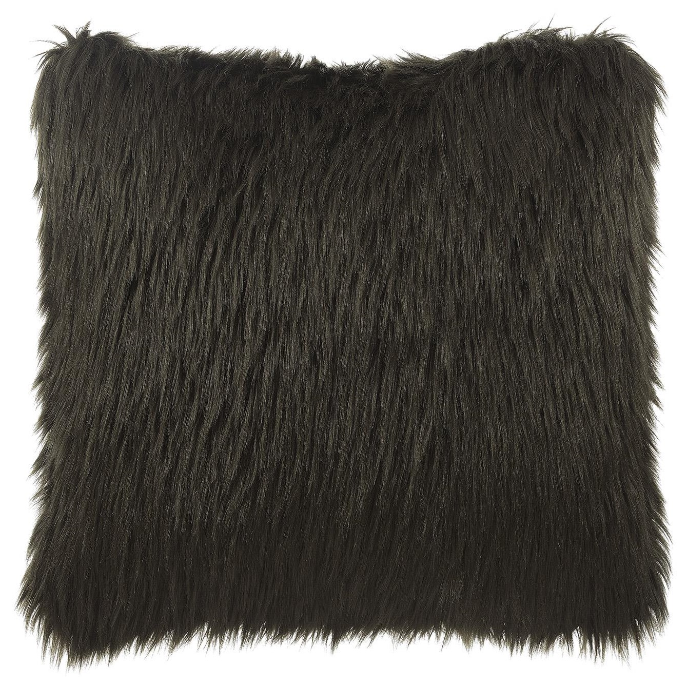 Brown Fur Accent Pillow