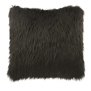 Brown Fur Accent Pillow
