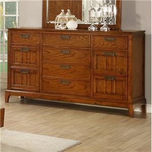 Lifestyle Oakridge  Transitional Dresser with 10 Drawers