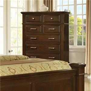Lifestyle Timber Transitional 5 Drawer Chest