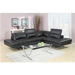 Lifestyle U1111S Contemporary Sectional