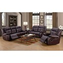 Lifestyle U12623 Casual Reclining Sofa with Pillow Arms