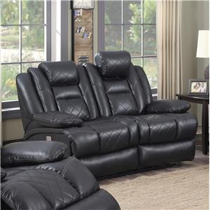 Lifestyle U35883 Power Reclining Loveseat with Plush Padding on Seat and Arms