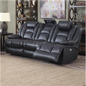 Lifestyle U35883 Power Reclining Sofa with Slide Up Headrest