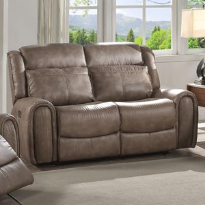 Lifestyle U61493 Power Motion Loveseat with Power Headrests