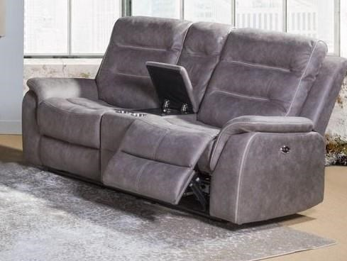 U80563 RECLINING GROUP Power Reclining Console Loveseat by Lifestyle at Furniture Fair - North Carolina