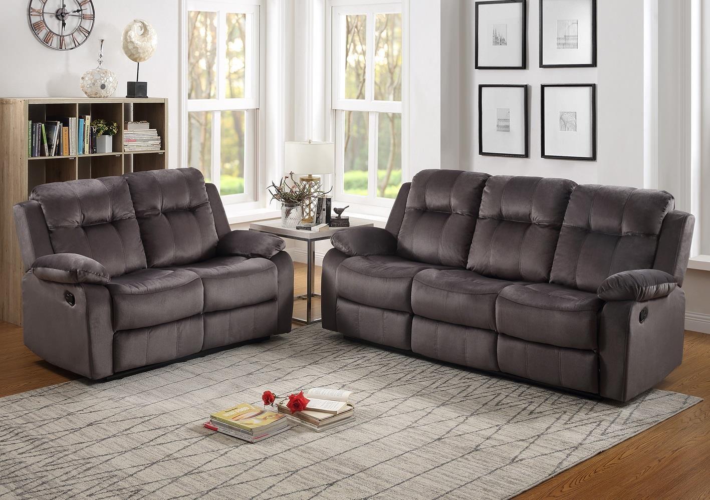 Fabulous Urbino Storm Grey Reclining Sofa Loveseat Set By Lifestyle At Sam Levitz Furniture Interior Design Ideas Gentotthenellocom