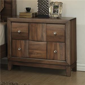 Delicieux Lifestyle Walnut Parquet Casual Nightstand With 2 Drawers | Royal Furniture  | Night Stand