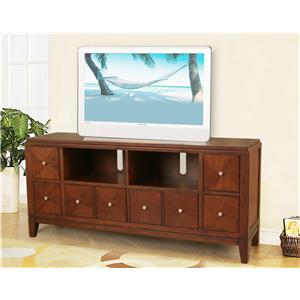 Lifestyle California Lexington TV Entertainment Center Cabinet with Eight Drawers