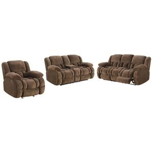 Lifestyle Vogue Reclining Console Loveseat