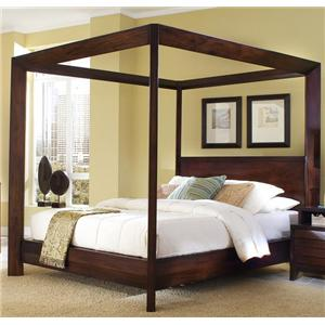 Ligna Furniture Canali Contemporary King Poster Bed